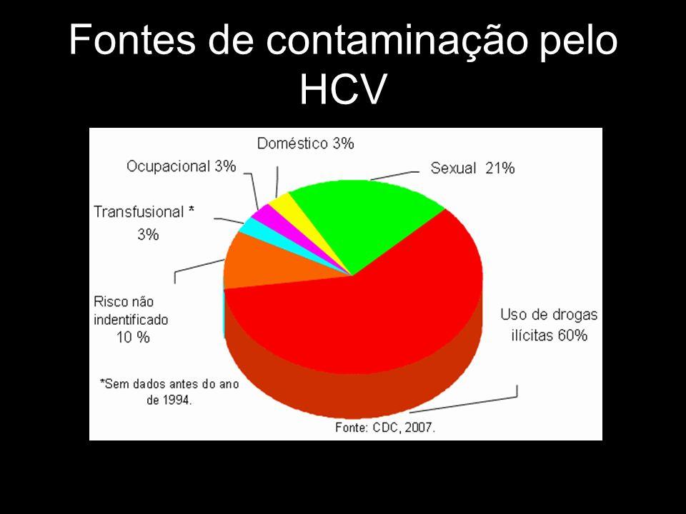 Fontes de contaminação pelo HCV