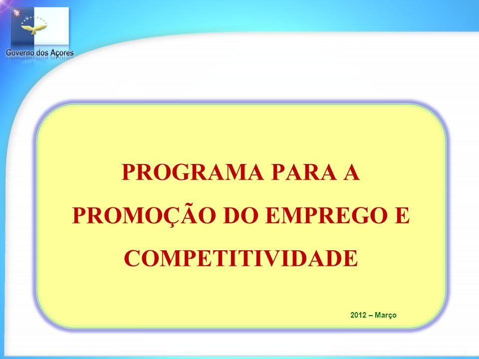 PROGRAMA PARA A PROMOÇÃO DO EMPREGO E COMPETITIVIDADE 2012 – Março