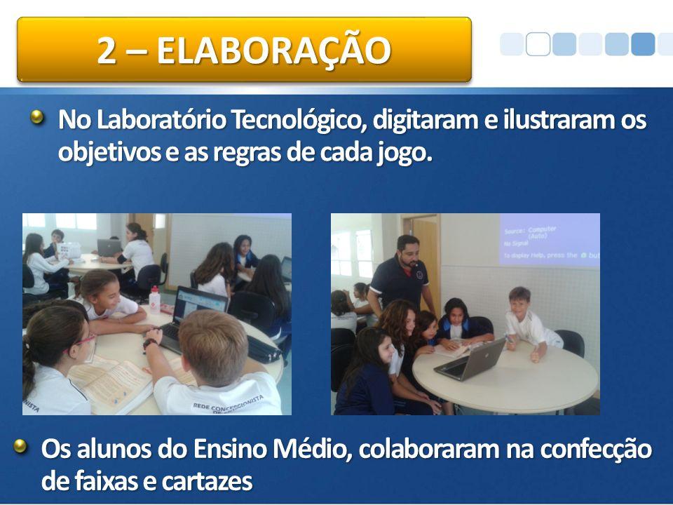 No Laboratório Tecnológico, digitaram e ilustraram os objetivos e as regras de cada jogo.