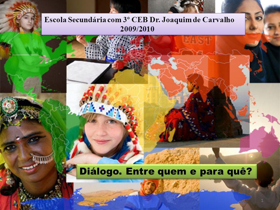 Diálogo. Entre quem e para quê? Escola Secundária com 3º CEB Dr. Joaquim de Carvalho 2009/2010 Escola Secundária com 3º CEB Dr. Joaquim de Carvalho 20