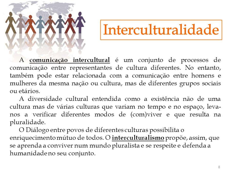 A comunicação intercultural é um conjunto de processos de comunicação entre representantes de cultura diferentes. No entanto, também pode estar relaci