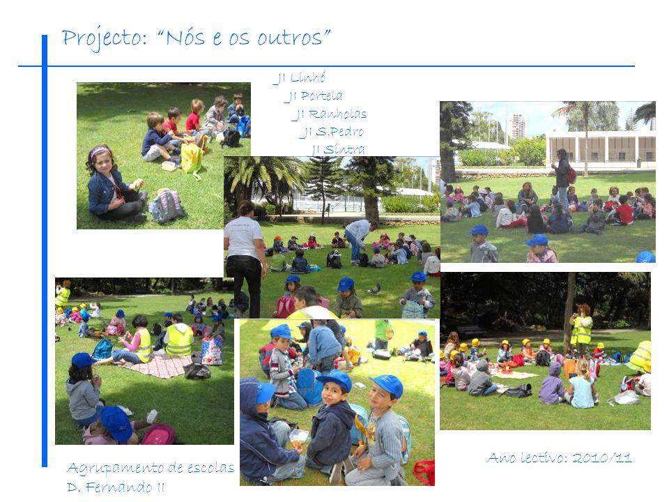 Projecto: Nós e os outros JI Linhó JI Portela JI Ranholas JI S.Pedro JI Sintra Ano lectivo: 2010/11 Agrupamento de escolas D. Fernando II