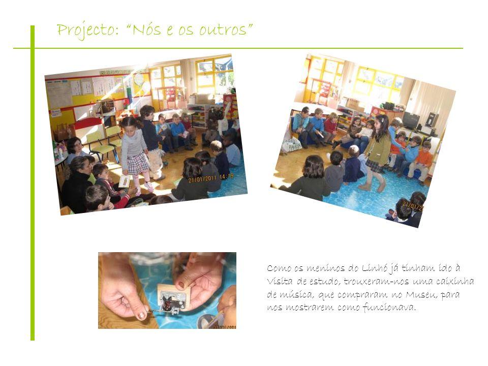 Projecto: Nós e os outros Como os meninos do Linhó já tinham ido à Visita de estudo, trouxeram-nos uma caixinha de música, que compraram no Museu, par