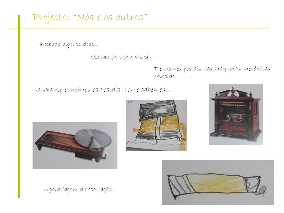 Projecto: Nós e os outros Passado alguns dias… Visitámos nós o Museu… Trouxemos postais das máquinas mecânicas expostas… Na sala reproduzimos os posta