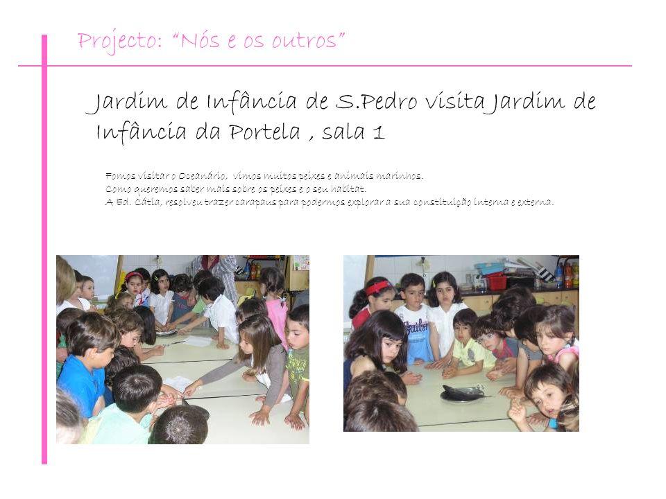 Jardim de Infância de S.Pedro visita Jardim de Infância da Portela, sala 1 Fomos visitar o Oceanário, vimos muitos peixes e animais marinhos. Como que