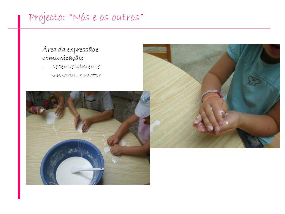 Projecto: Nós e os outros Área da expressão e comunicação: -Desenvolvimento sensorial e motor