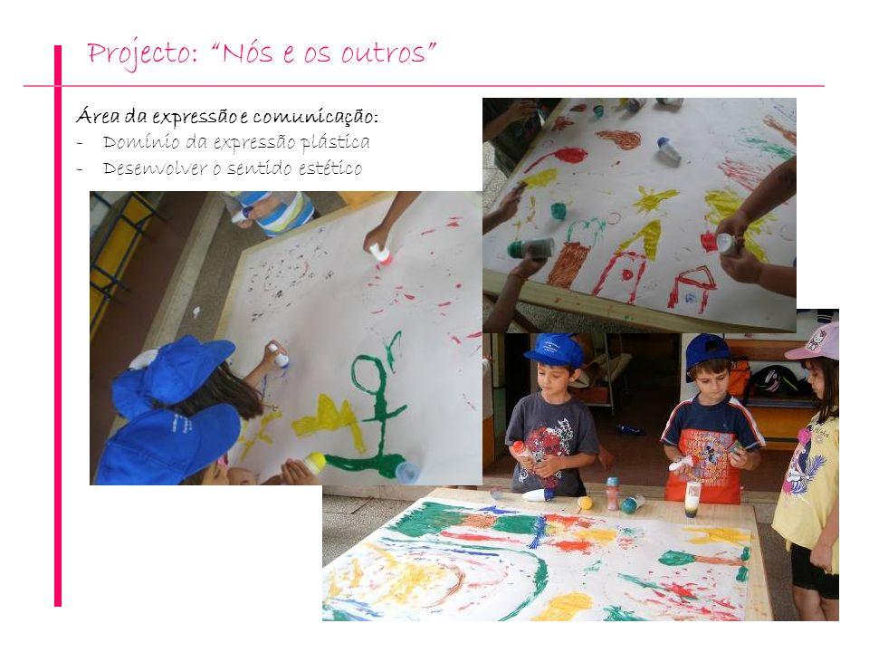 Projecto: Nós e os outros Área da expressão e comunicação: -Domínio da expressão plástica -Desenvolver o sentido estético