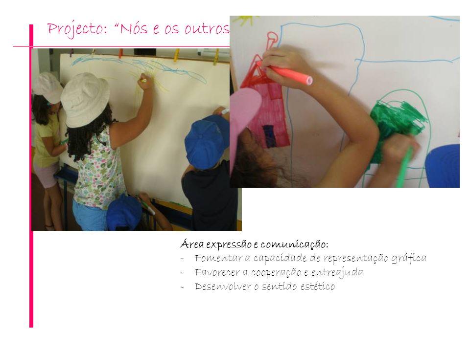 Projecto: Nós e os outros Área expressão e comunicação: -Fomentar a capacidade de representação gráfica -Favorecer a cooperação e entreajuda -Desenvol