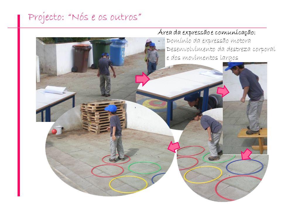 Projecto: Nós e os outros Área da expressão e comunicação: -Domínio da expressão motora -Desenvolvimento da destreza corporal e dos movimentos largos