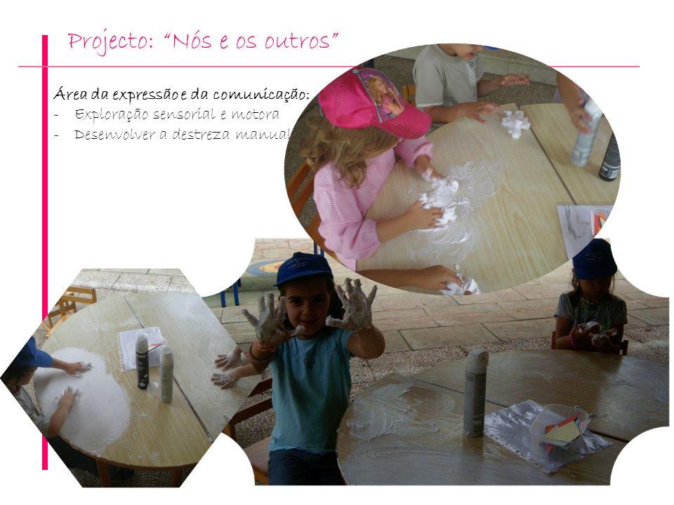 Projecto: Nós e os outros Área da expressão e da comunicação: -Exploração sensorial e motora -Desenvolver a destreza manual