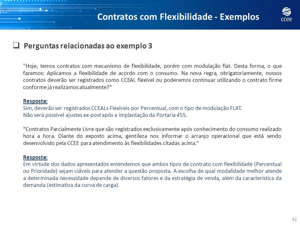 42 Perguntas relacionadas ao exemplo 3 Contratos com Flexibilidade - Exemplos