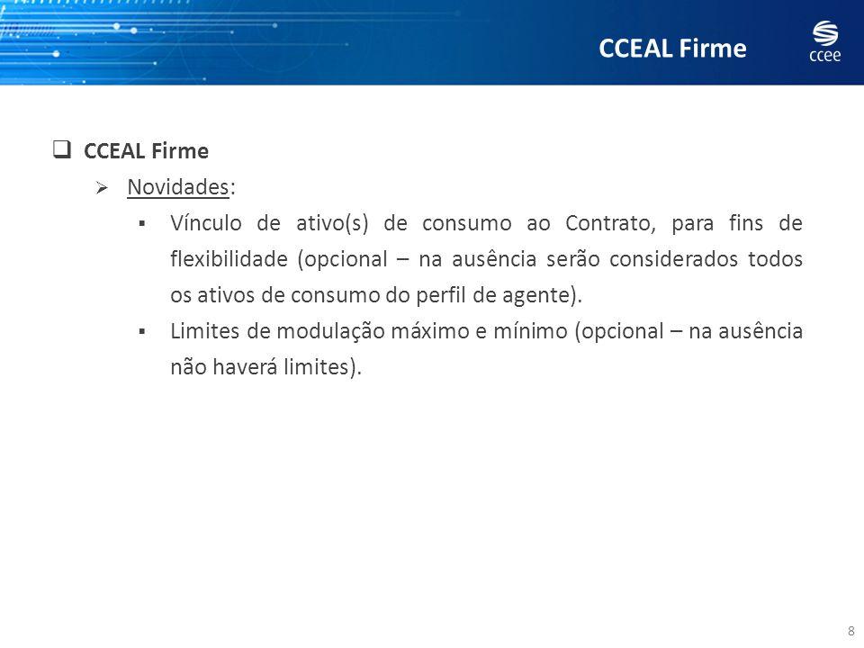 AGENDA 39 REGISTRO EX-ANTE (modalidades de CCEAL, mecanismo, execução) EXEMPLOS 1 e 2 – um CCEAL Flexível por Percentual EXEMPLO 3 – um CCEAL Firme e um CCEAL Flexível por Percentual EXEMPLO 4 – um CCEAL Flexível por Percentual e dois CCEALs Flexíveis por Prioridade EXEMPLOS 5, 6 e 7 – vários contratos nas três modalidades de CCEAL, atendendo a várias cargas Dúvidas/questões encaminhadas pelos agentes