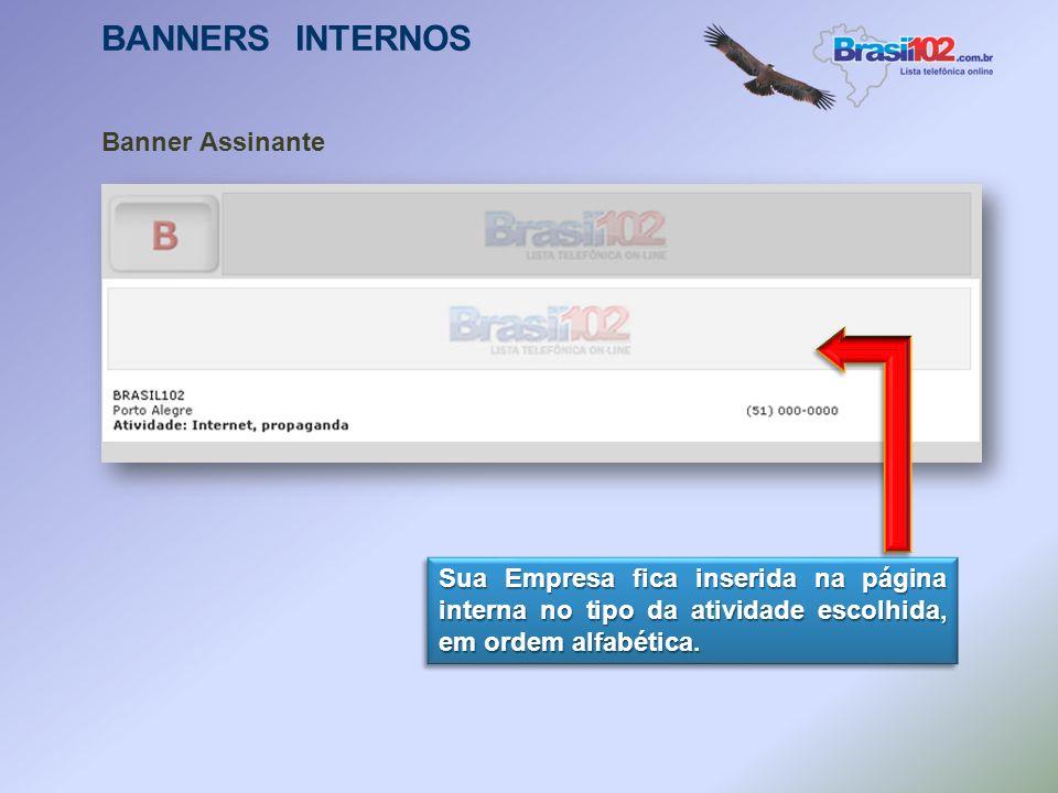 BANNERS INTERNOS Banner Outdoor Virtual É exibido um banner do cliente em todas as fontes (A a Z). Independente da consulta efetuada o banner do clien