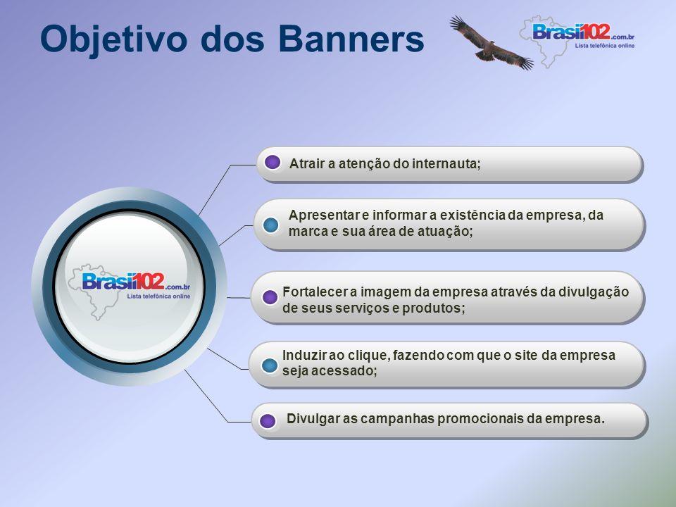 Banners O banner é o elemento mais usado para fazer publicidade na internet. Uma campanha de divulgação através de anúncios em banners proporciona res