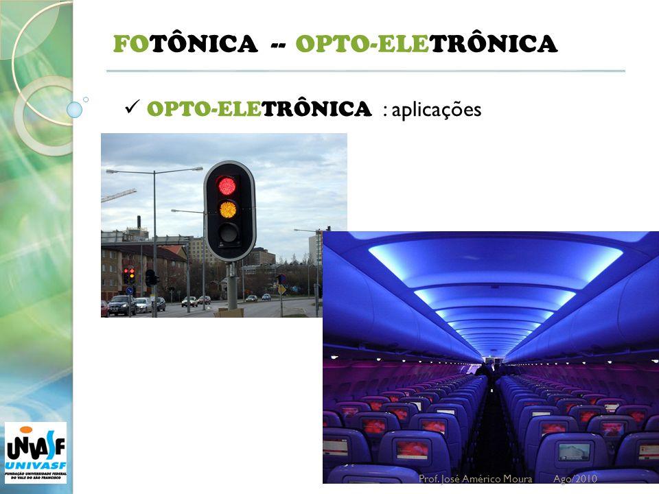 21 FOTÔNICA -- OPTO-ELETRÔNICA : aplicações OPTO-ELETRÔNICA Prof. José Américo Moura Ago/2010