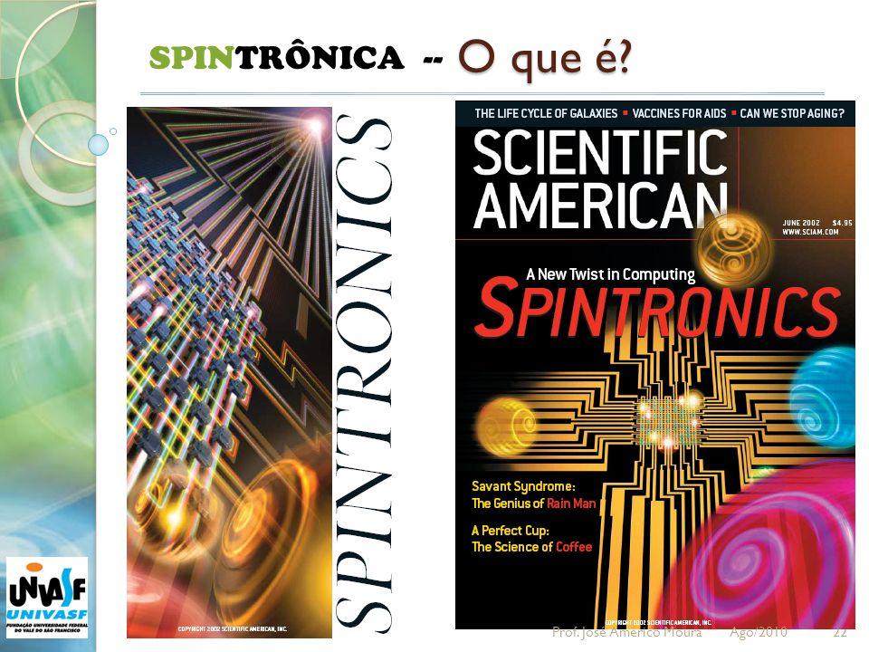 22 SPINTRÔNICA -- O que é? Prof. José Américo Moura Ago/2010