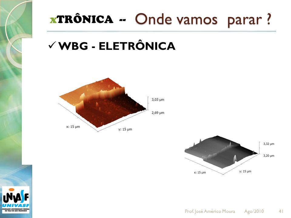 41 xTRÔNICA -- Onde vamos parar ? WBG - ELETRÔNICA Prof. José Américo Moura Ago/2010