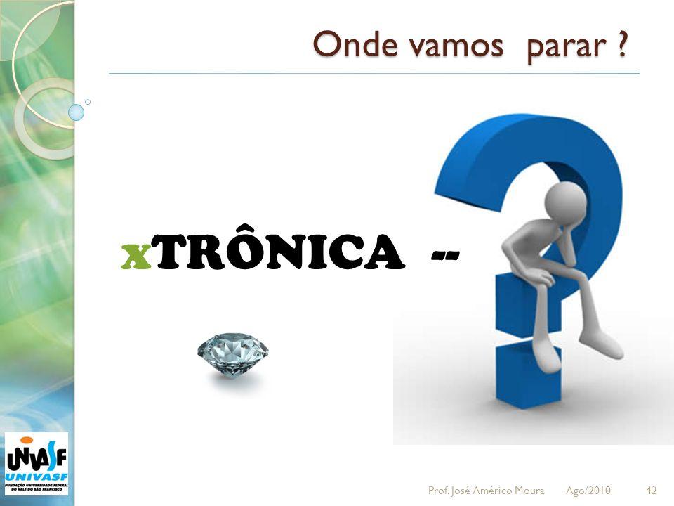 42 xTRÔNICA -- Onde vamos parar ? Prof. José Américo Moura Ago/2010