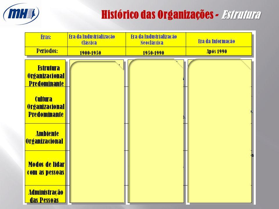 Estrutura Histórico das Organizações - Estrutura