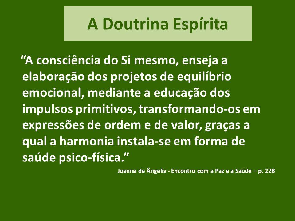 A Doutrina Espírita O Espiritismo oferece-lhe um valioso arsenal de experiências e de conhecimentos que o capacitam para os enfrentamentos internos e