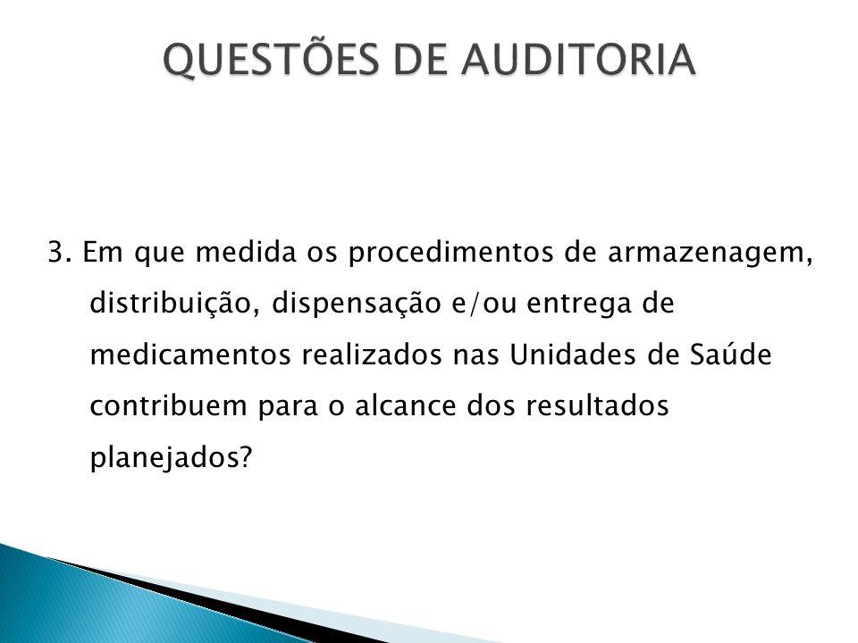 Avaliação de Estrutura: Condições da Farmácia Escola e UBSs.