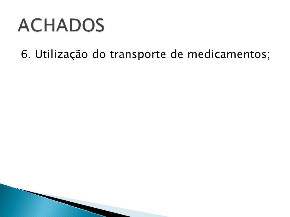 Adequar os transportes às Boas Práticas do Transporte de Medicamentos, estabelecida pela Lei Federal n° 6.360/76, bem como as Resoluções e Portarias da ANVISA.
