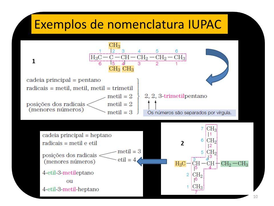 10 Exemplos de nomenclatura IUPAC 1 2
