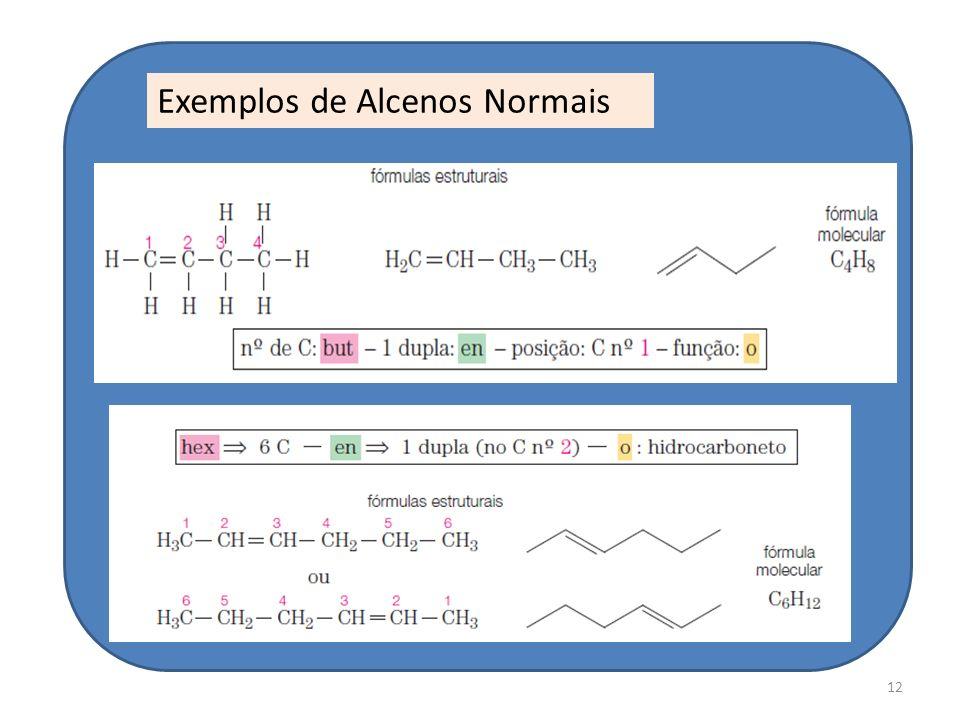 12 Exemplos de Alcenos Normais
