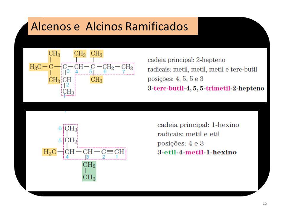 15 Alcenos e Alcinos Ramificados