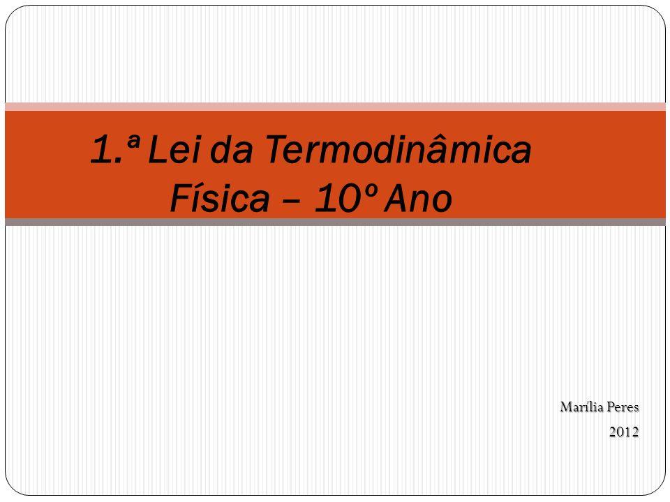 Marília Peres 2012 1.ª Lei da Termodinâmica Física – 10º Ano