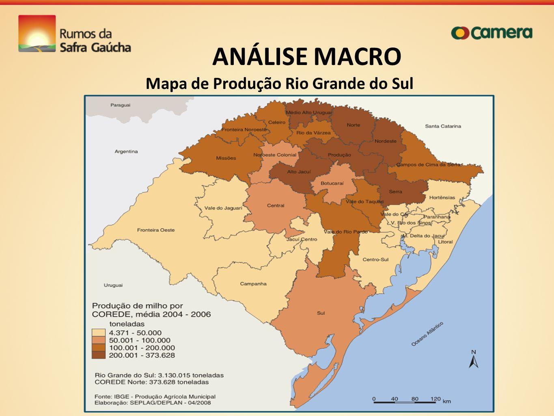 ANÁLISE MACRO Mapa de Produção Rio Grande do Sul