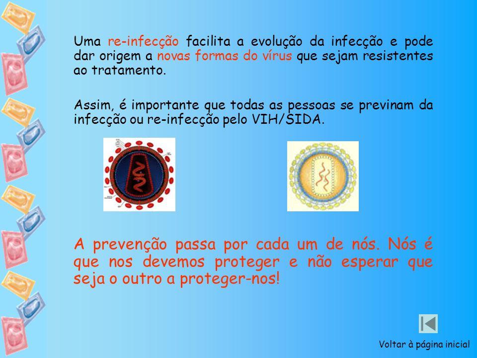 Uma re-infecção facilita a evolução da infecção e pode dar origem a novas formas do vírus que sejam resistentes ao tratamento. Assim, é importante que