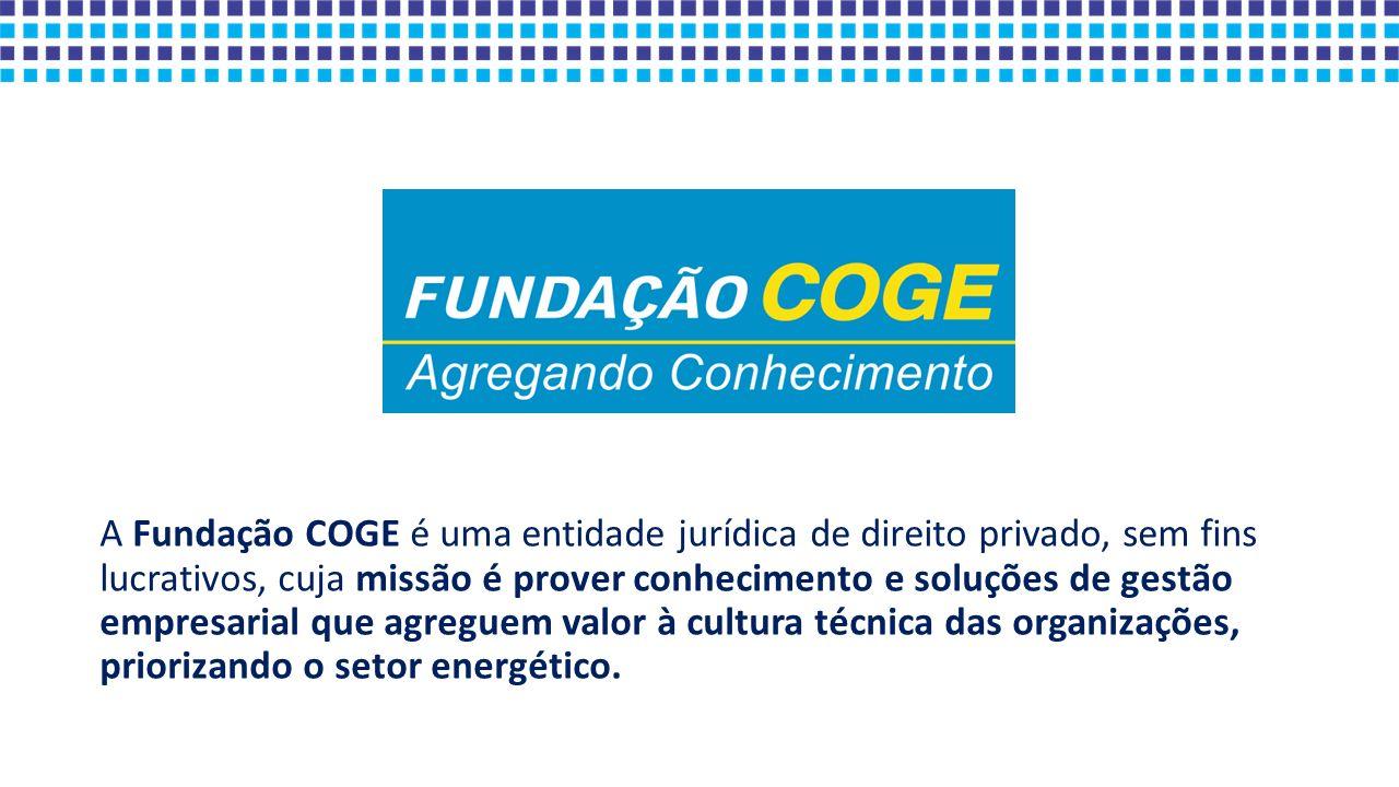 A Fundação COGE é uma entidade jurídica de direito privado, sem fins lucrativos, cuja missão é prover conhecimento e soluções de gestão empresarial qu