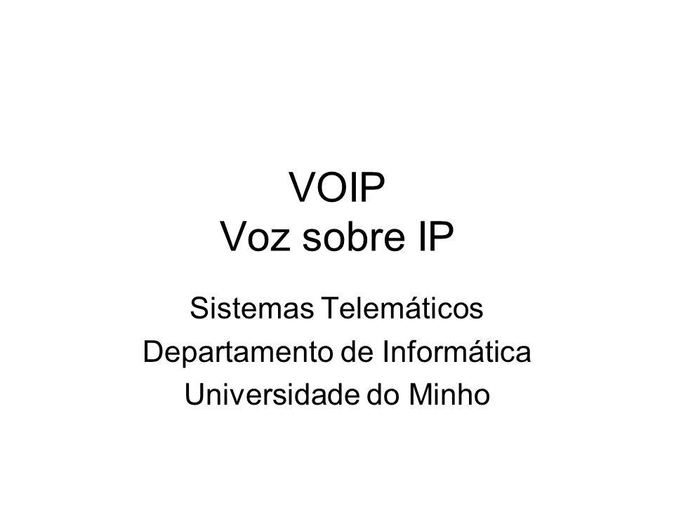 VOIP Voz sobre IP Sistemas Telemáticos Departamento de Informática Universidade do Minho