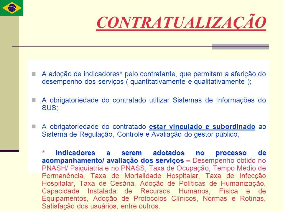 A adoção de indicadores* pelo contratante, que permitam a aferição do desempenho dos serviços ( quantitativamente e qualitativamente ); A obrigatoried