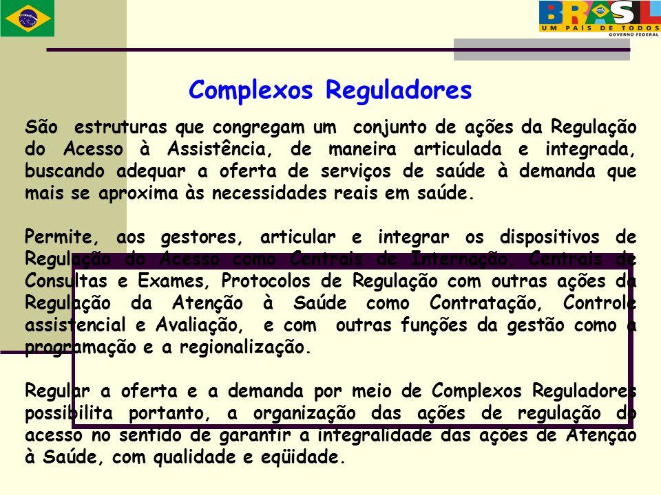 São estruturas que congregam um conjunto de ações da Regulação do Acesso à Assistência, de maneira articulada e integrada, buscando adequar a oferta d