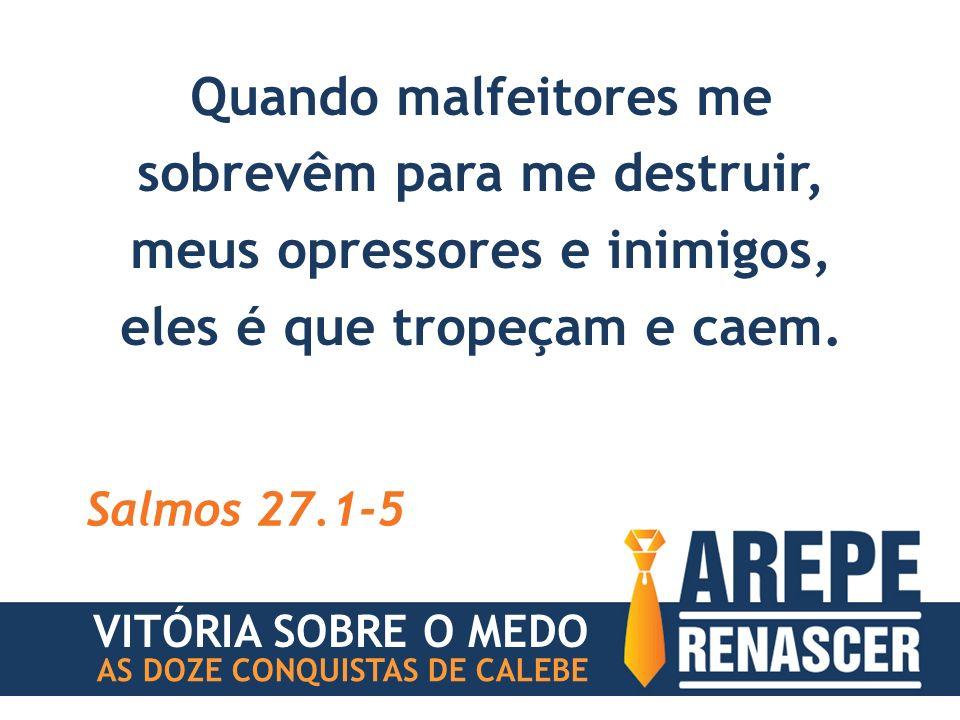 Quando malfeitores me sobrevêm para me destruir, meus opressores e inimigos, eles é que tropeçam e caem.