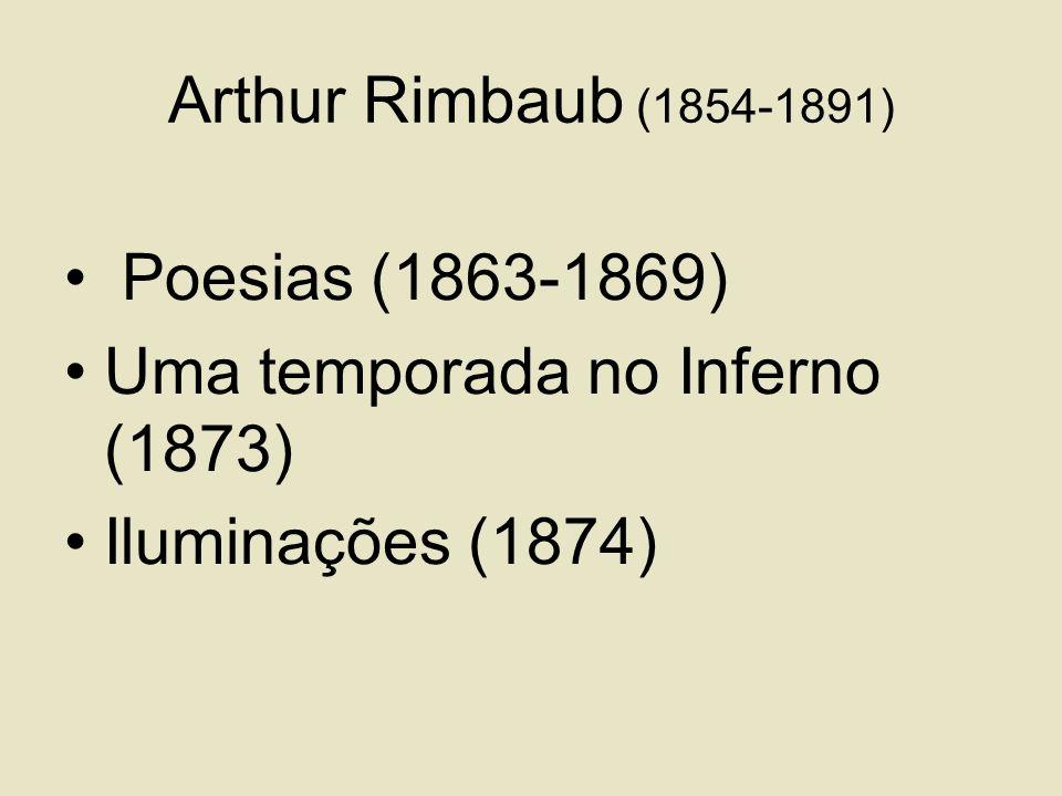 Arthur Rimbaub (1854-1891) Poesias (1863-1869) Uma temporada no Inferno (1873) Iluminações (1874)