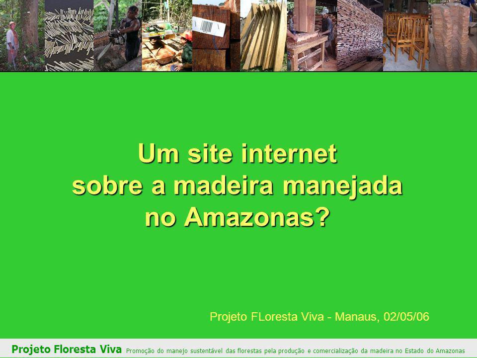 Um site internet sobre a madeira manejada no Amazonas.