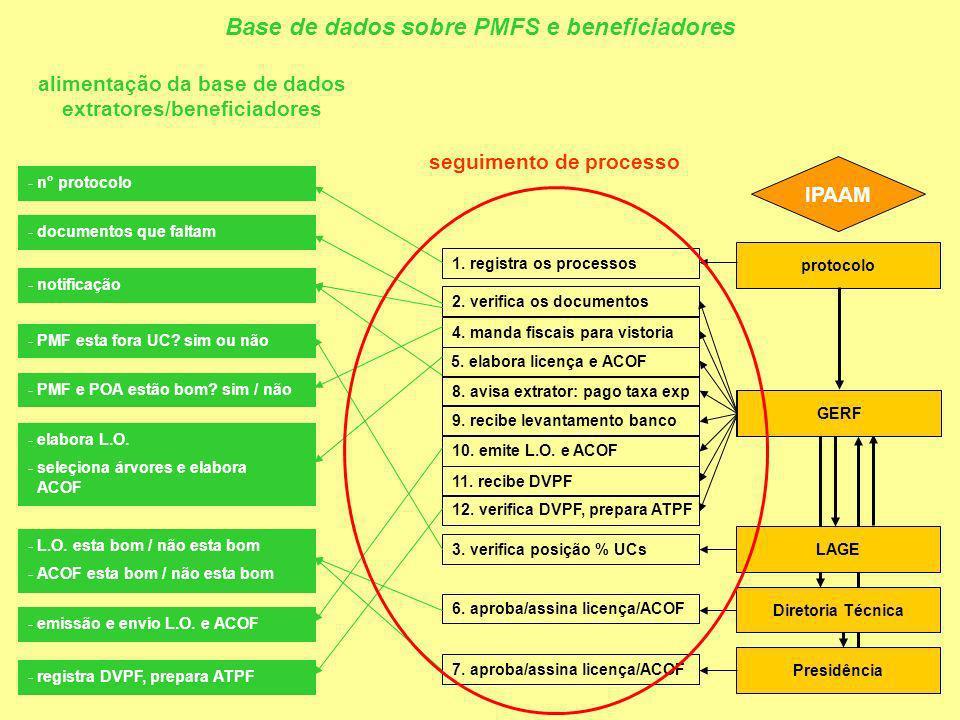 IPAAM protocolo GERF Presidência 1.registra os processos 2.