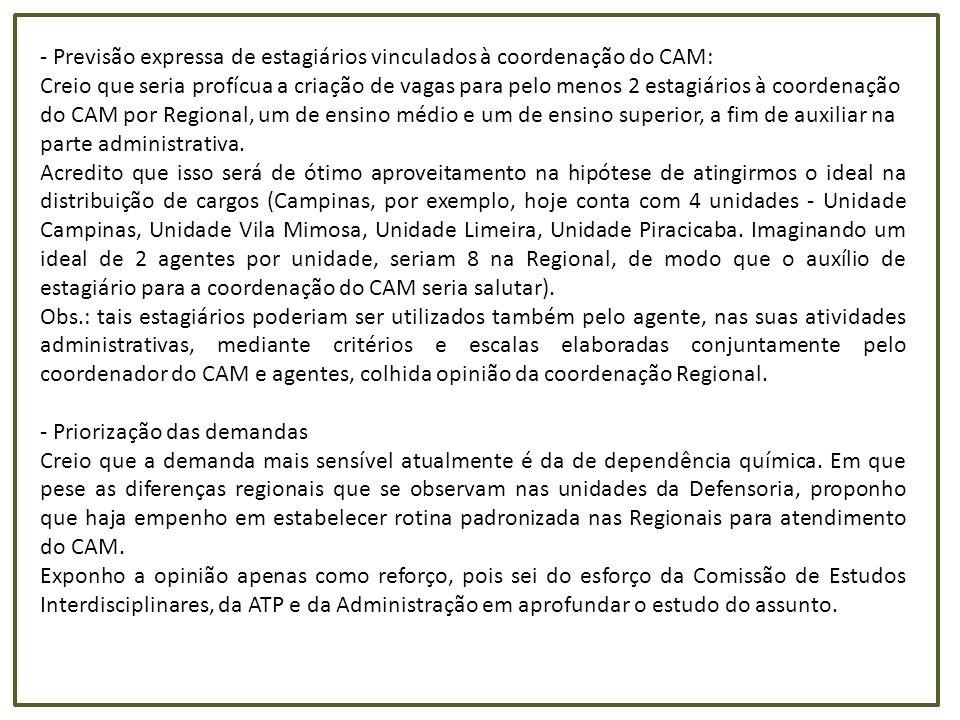 Relação entre acordos extrajudiciais e demandas judiciais no interior e região metropolitana de São Paulo Unidade Demanda total (DPE, OAB, outros convênios) Acordos extrajudiciais (relatório cível) Porcentagem de acordo (relatório cível) por demanda total Mediações/ acordos (relatório triagem) Porcentagem de acordo (relatório triagem) por demanda total Araçatuba28282398,45%33711,92% Araraquara475956511,87%55611,68% Bauru882420,02%2382,70% Campinas8029210,26%00,00% Campinas - Vila Mimosa1092847,69%999,07% Carapicuíba43551463,35%100,23% Franca6729330,49%330,49% Guarulhos14957590,39%1911,28% Itaquaquecetuba (ago-dez)3877671,73%1724,44% Jaú53184638,71%56510,62% Jundiaí35231454,12%40111,38% Marília9271250,27%630,68% Mogi das Cruzes25912349,03%1957,53% Osasco6299116718,53%330,52% Piracicaba3435692,01%260,76% Presidente Prudente3237341,05%1715,28% Registro136418013,20%00,00% Ribeirão Preto85011031,21%30,04% Santo André (abr-dez)59345218,78%871,47% Santos3558882,47%50,14% São Bernardo do Campo5883220,37%3696,27% São Carlos193327414,17%00,00% São José do Rio Preto77325356,92%4215,44% São José dos Campos85576067,08%320,37% São Vicente3094240,78%90,29% Sorocaba61795548,97%20,03% Taubaté4110240,58%45711,12% Total1459696284 4,31% 4475 3,07%