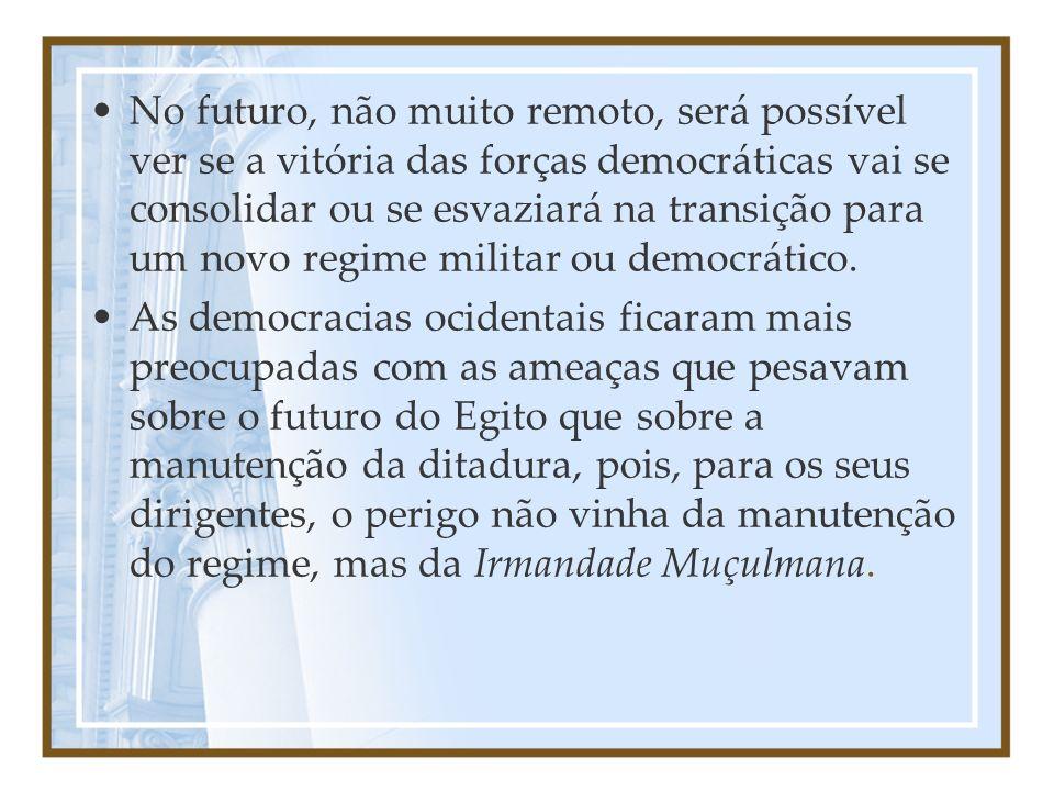 No futuro, não muito remoto, será possível ver se a vitória das forças democráticas vai se consolidar ou se esvaziará na transição para um novo regime