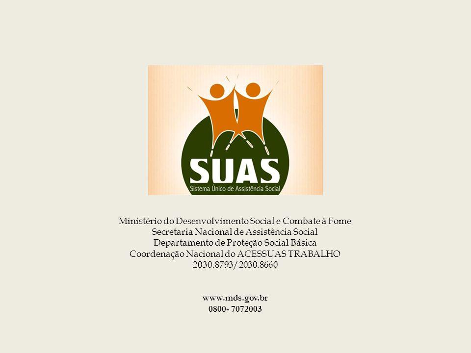 Obrigada ! Ministério do Desenvolvimento Social e Combate à Fome Secretaria Nacional de Assistência Social Departamento de Proteção Social Básica Coor