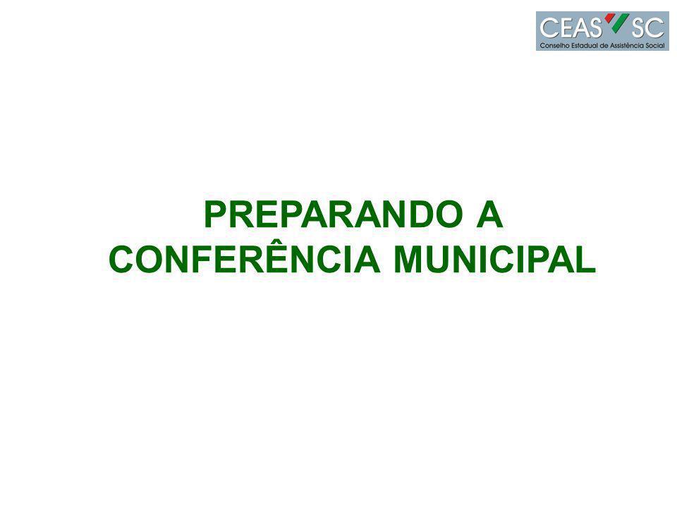 PREPARANDO A CONFERÊNCIA MUNICIPAL