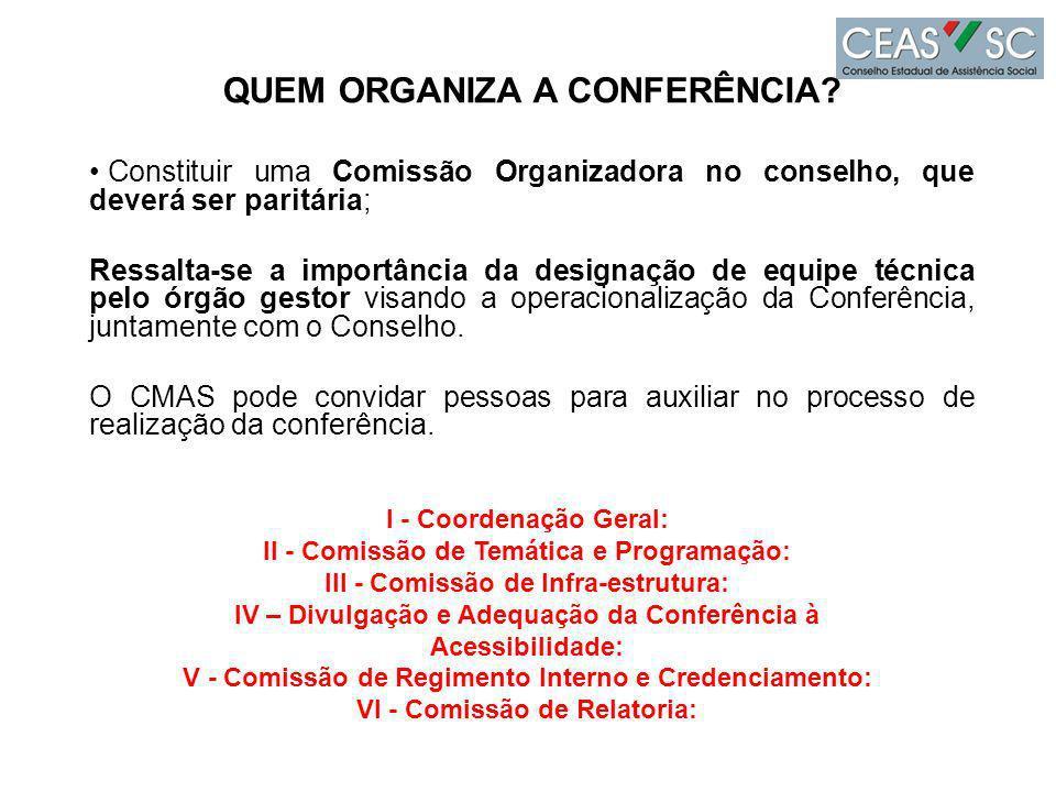 QUEM ORGANIZA A CONFERÊNCIA.