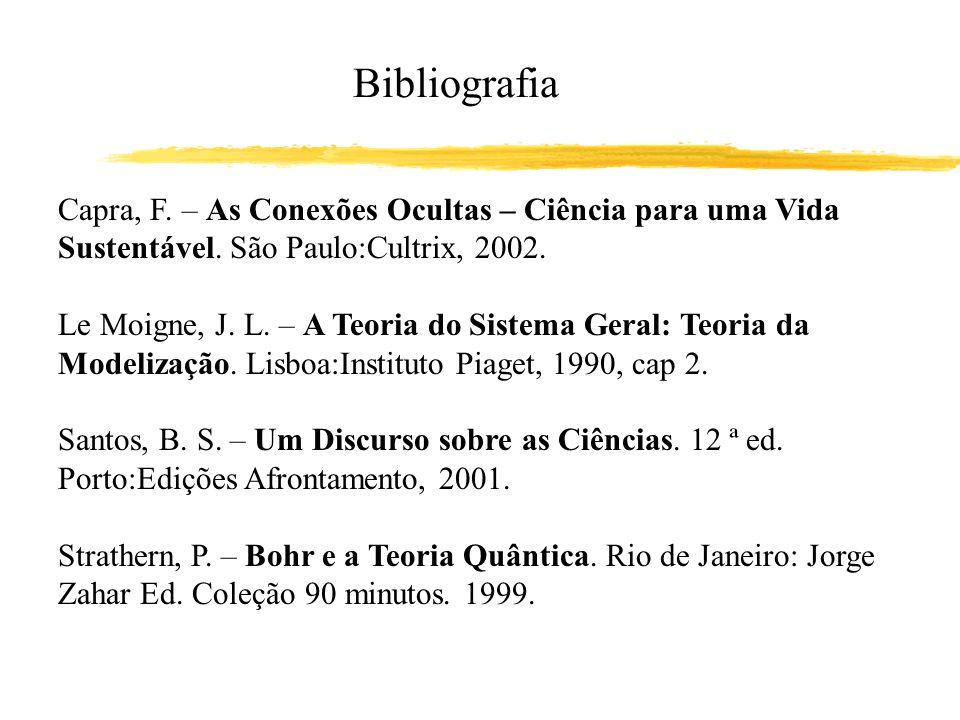 Capra, F. – As Conexões Ocultas – Ciência para uma Vida Sustentável. São Paulo:Cultrix, 2002. Le Moigne, J. L. – A Teoria do Sistema Geral: Teoria da