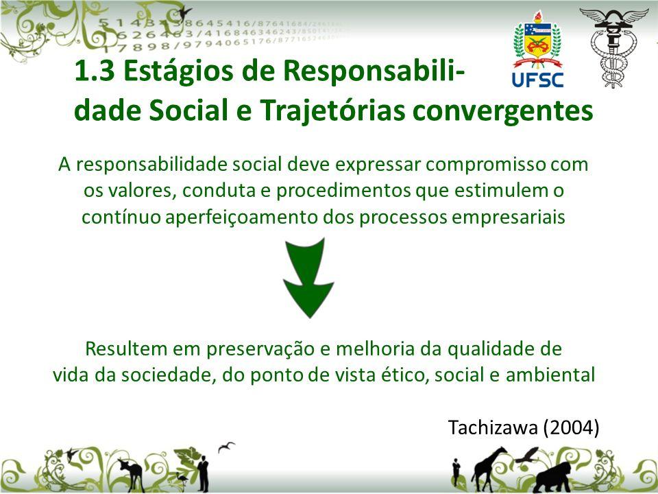 A responsabilidade social deve expressar compromisso com os valores, conduta e procedimentos que estimulem o contínuo aperfeiçoamento dos processos em