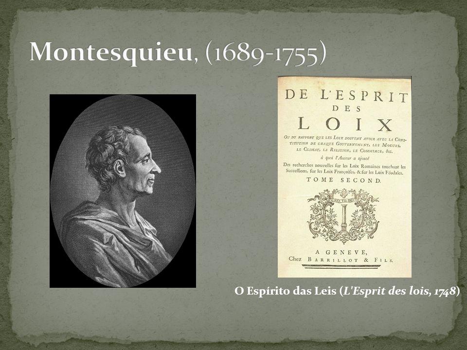 O Espírito das Leis (L Esprit des lois, 1748)