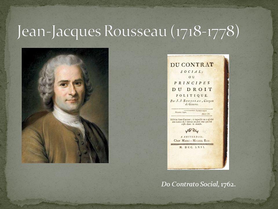 Do Contrato Social, 1762.