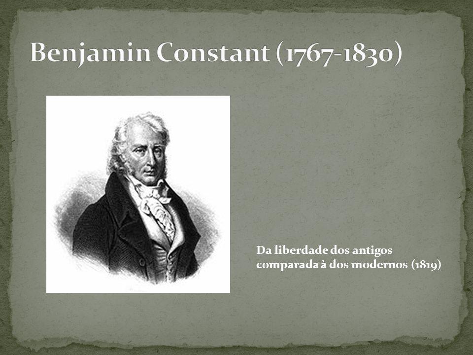 Da liberdade dos antigos comparada à dos modernos (1819)